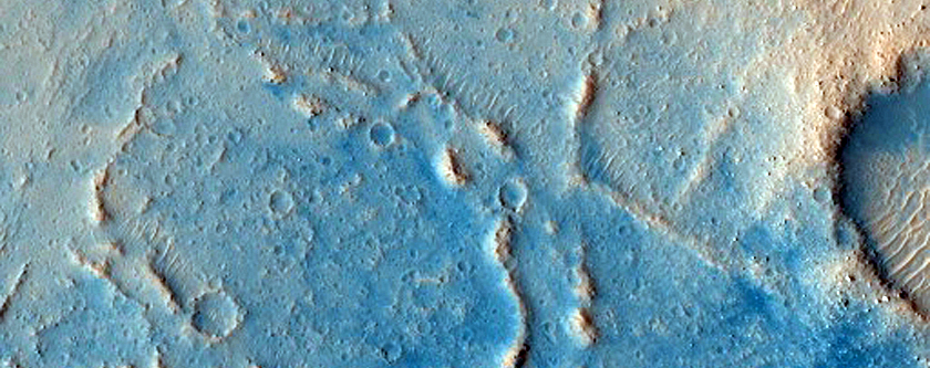 Feature on Floor of Kasei Valles That Is Bright Both in Day and Night IR