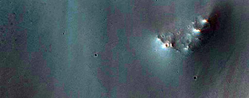 Dark Dunes in Crater