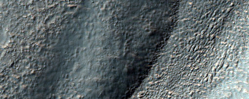 Erosion of Crater Wall Near Argyre Region