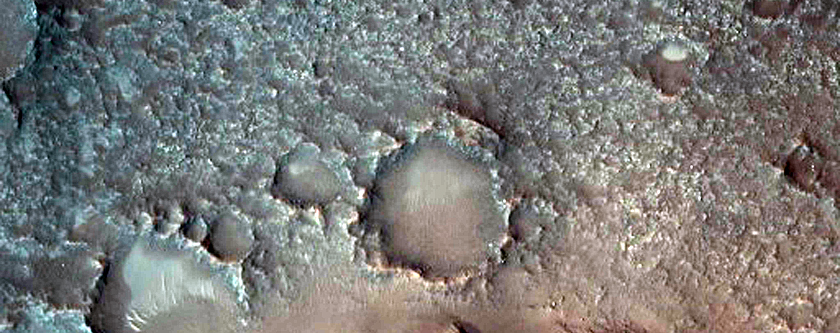 Crater or Caldera in Northwest Arabia Terra