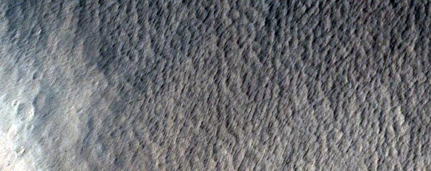 Tharsis Tholus Southern Caldera and Flank Fault