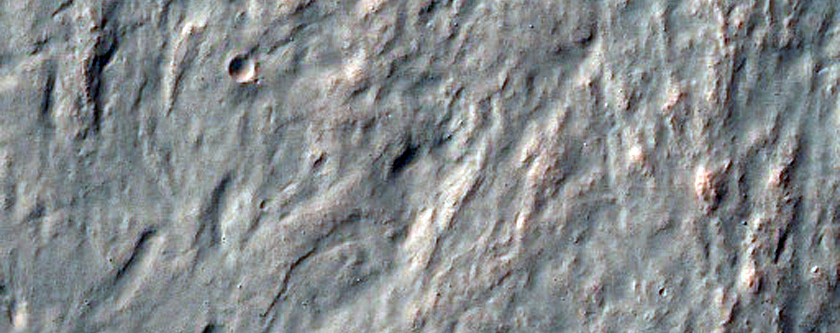 Rugged Surface of Crater Ejecta in Terra Sirenum