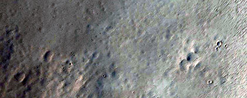 Crater Near Arabia Terra