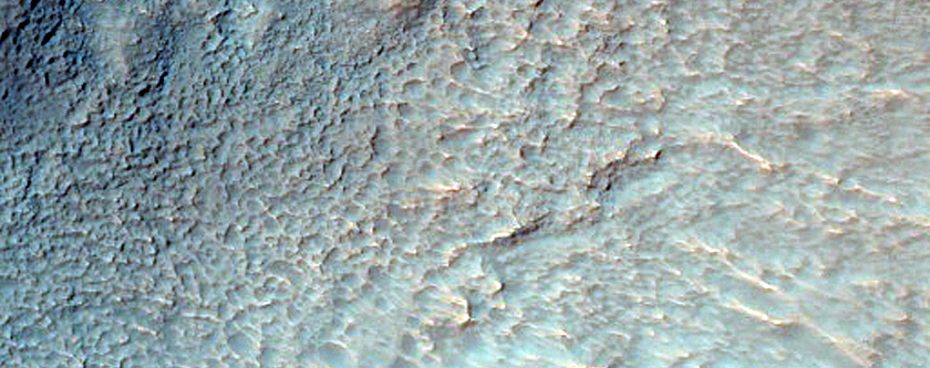 Crater Wall in Icaria Planum