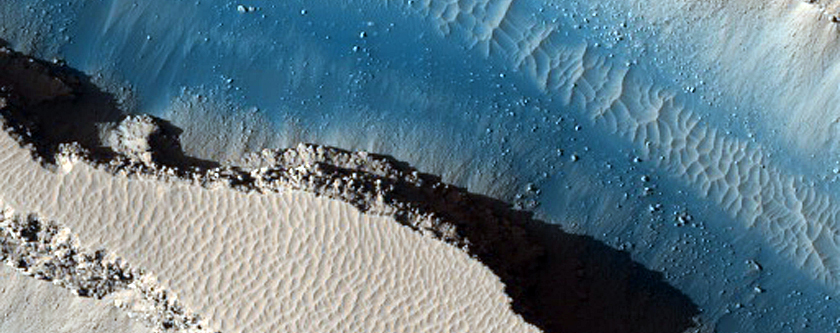 Crater Cut by Cerberus Fossae