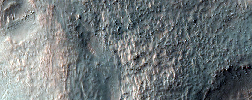 Ridges and Hollows in Crater Near Copernicus Crater