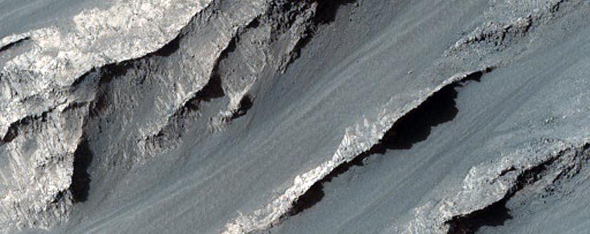 Ravines in Melas Chasma