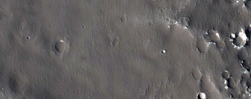 Valley in Utopia Planitia