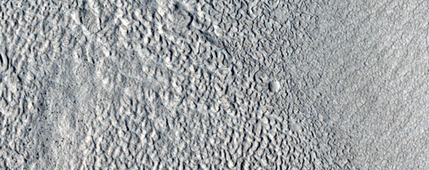 Ridges or Terraces along Filled Valley North of Arabia Region