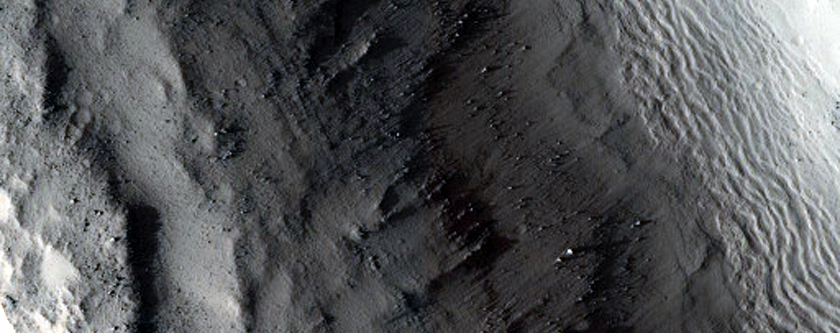 Crater in Phlegra Dorsa