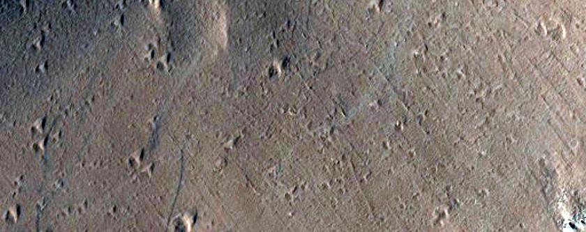 Uranius Patera Sample of Upper Flank and Caldera Floor