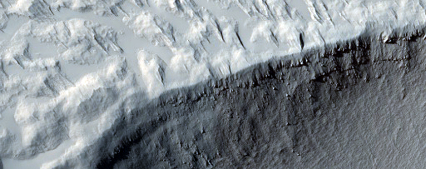 Crater Near Mangala Valles