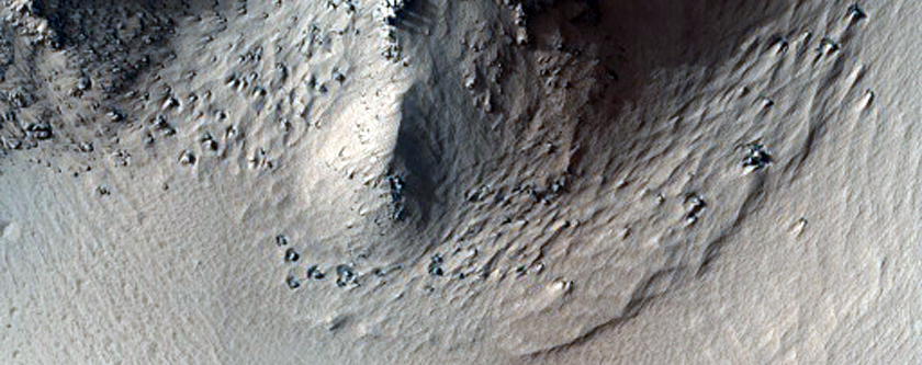 Pits and Rilles Just West of Arsia Mons