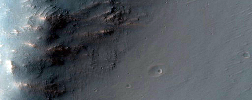 Hills in Noctis Labyrinthus