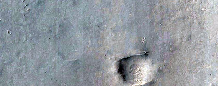 Terrain Northwest of Gale Crater