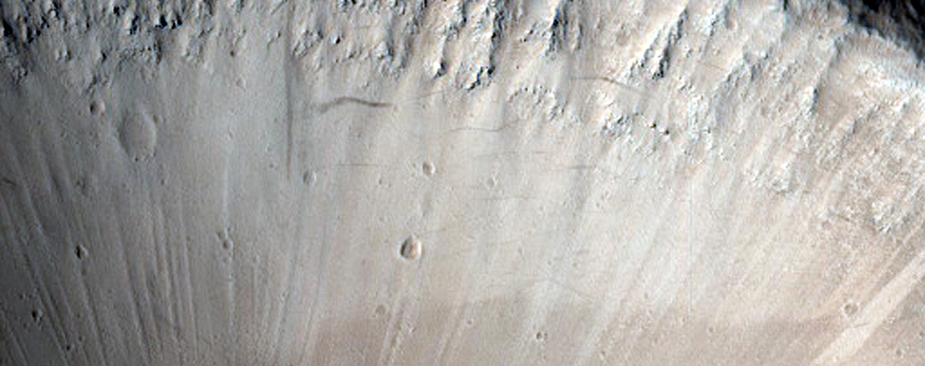 Crater North of Olympus Mons