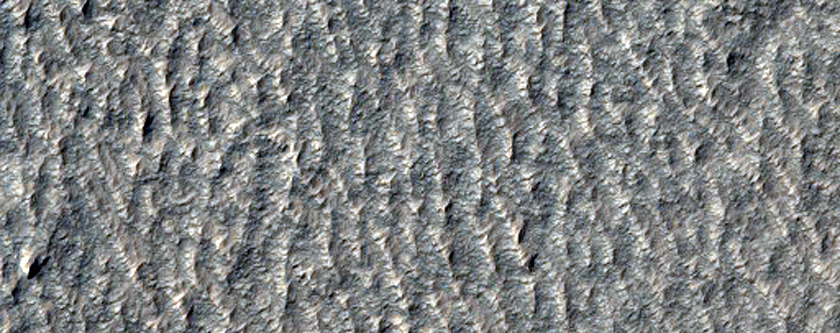 Surface of Lobate Debris Apron East of Hellas Region