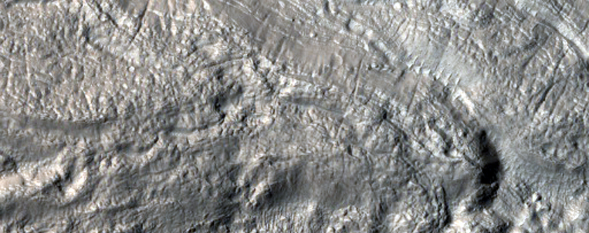 Ridges and Hollows at Base of Mound in Terra Cimmeria
