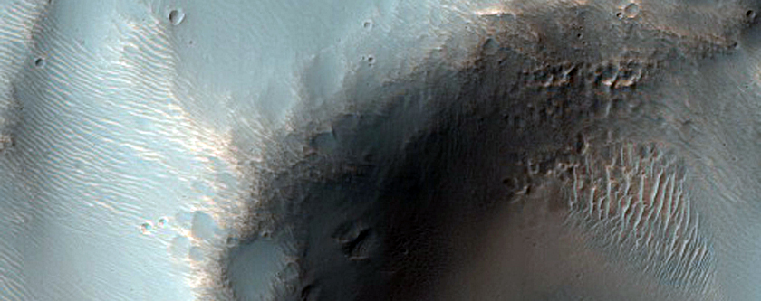 Possible Inverted Streams Near Newton Crater