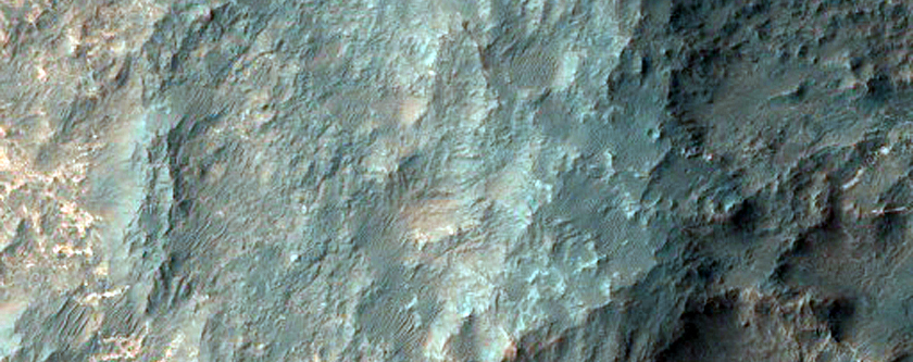 Light-Toned Fractures in Uzboi Vallis