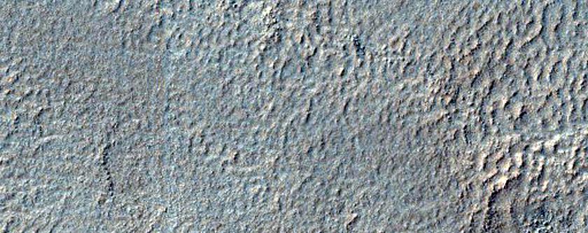 Possible Small Valleys on Floor of Crater Near Hellas Region