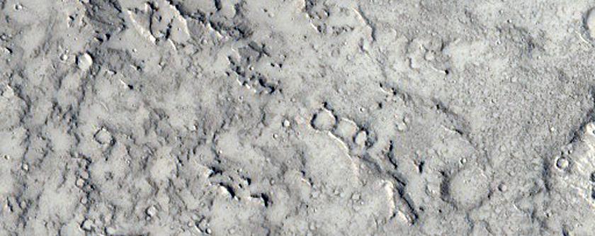 Erosion in Wake of Knob in Elysium Region