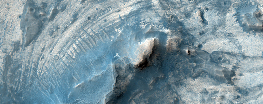 Layering in an Exhumed Crater at Meridiani Planum