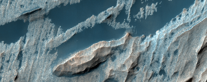 Wall Rock and Light-Toned Layering in Candor Chasma