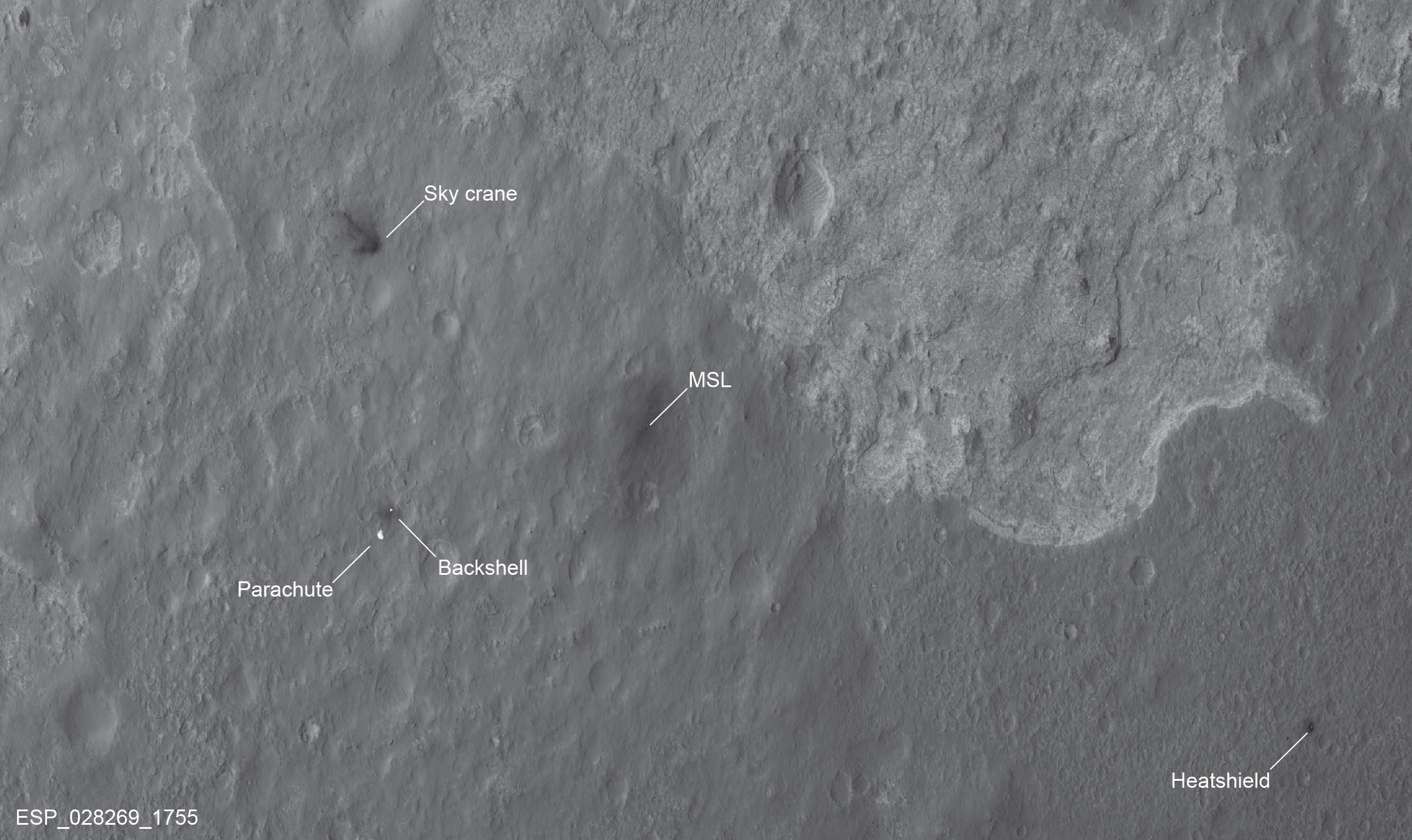 Curiosity on MARS... Landing_site_annotated