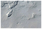 Scarp around Crater Ejecta as Seen in CTX Image