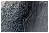 Light-Toned Feature in Gully on North Crater Wall