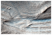 Terraces or Strata on a Crater Slope