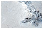 Bedrock Exposures in Crater Wall