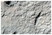 Sinuous Feature on Crater Floor in Noachis Terra Region