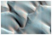 North Polar Dunes with Abundant Sand