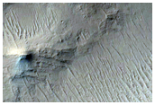 Arabia Terra Crater or Escarpment