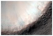 Fresh 1-Kilometer Diameter Impact Crater