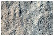 Lobate Feature Northwest of Olympus Mons Basal Scarp