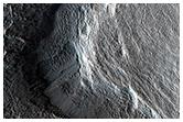 Bir akımın Mars yüzeyinde bıraktığı izler