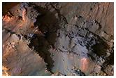Coprates Chasma'nın üst kısmı