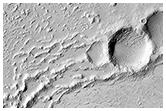 Daedalia Planum'daki lav akıntıları