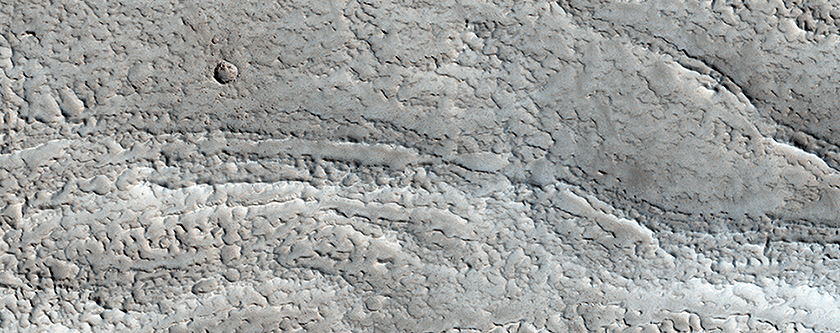A Sinuous Ridge South of Moreux Crater