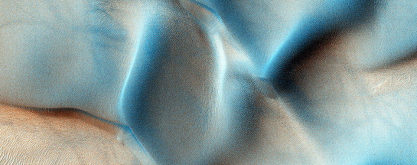 منطقة الكثبان و صخرة الحائط في منطقة كوبراتس شازما (Coprates Chasma)