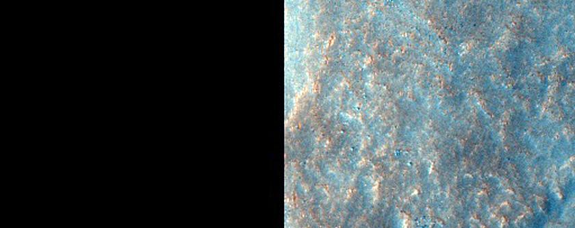 Western Rim of Crater in Acidalia Planitia