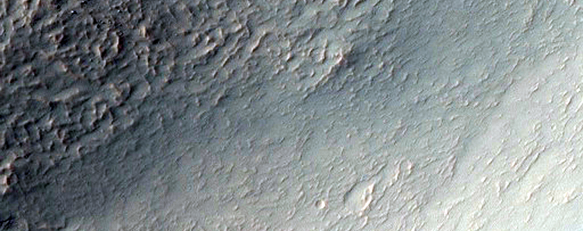 Eroded Crater Wall in Western Hellas Planitia