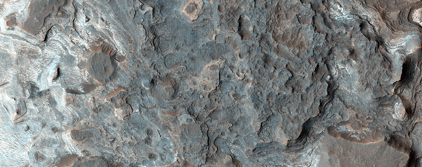 Light-Toned Deposits in Ladon Valles Basin