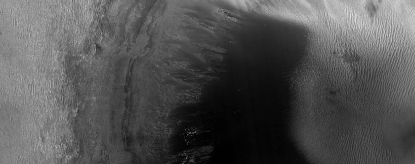 Irregular Depression in East Candor Chasma