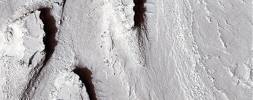 An Overflow Channel from Athabasca Vallis