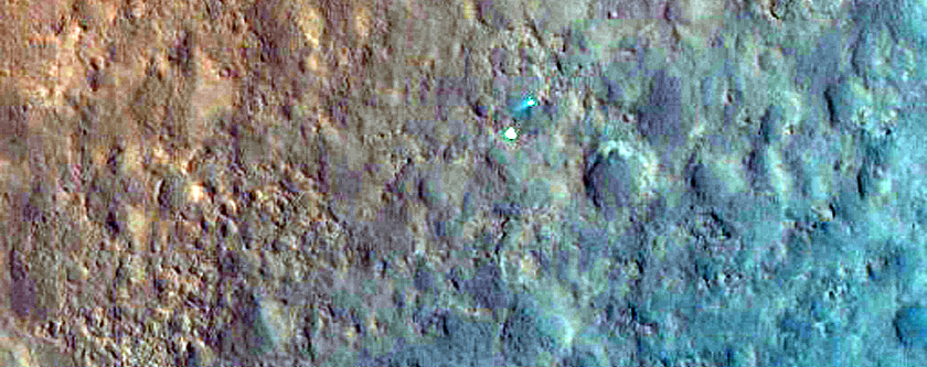 MSL Rover Gale Crater Color Strip Only