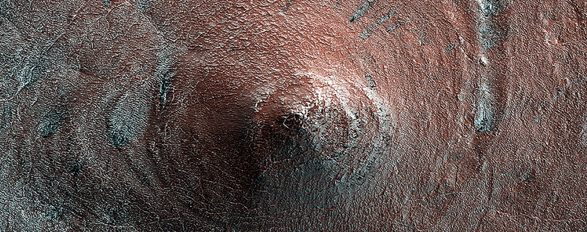 Conical Hill on South Polar Layered Deposits